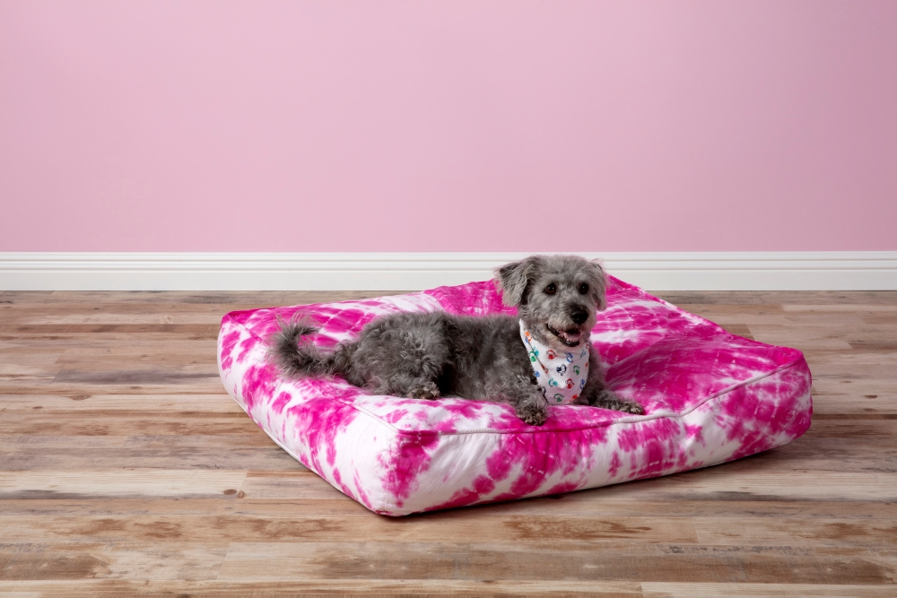 Shibori Tie Dye Dog Bed