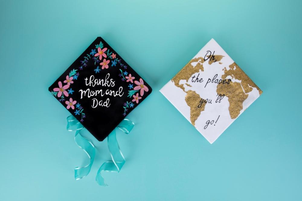 Custom Graduation Caps with Tulip