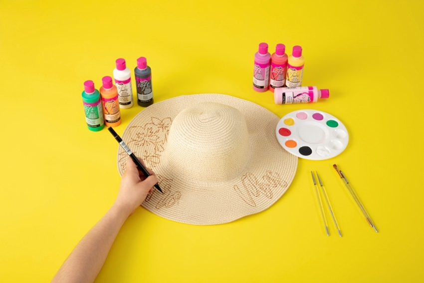 Easy Painted Summer Sun Hat
