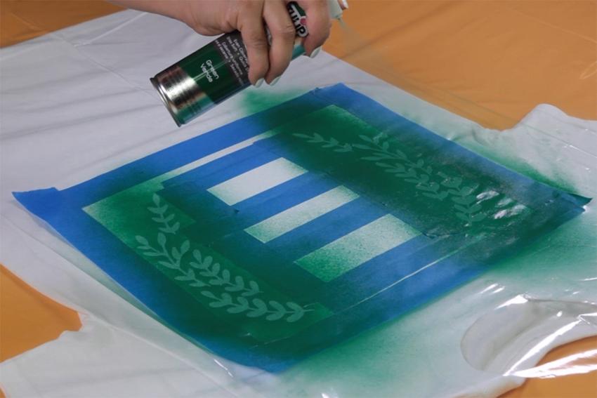 Easy Fabric Paint Thankful Shirt