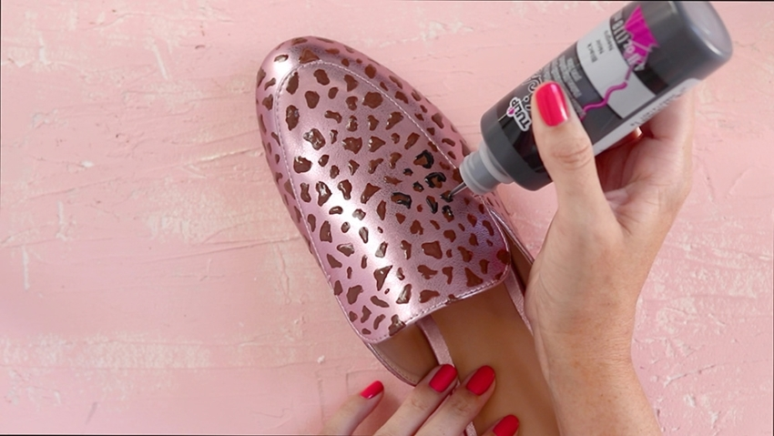 Easy DIY Leopard Print Shoes