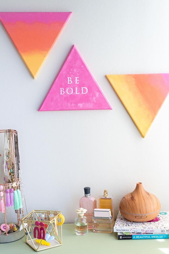 Quote Art Gradient Gallery Canvases