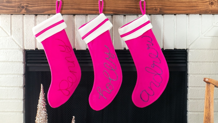 Picture of Dazzling Glitter Personalized Stockings