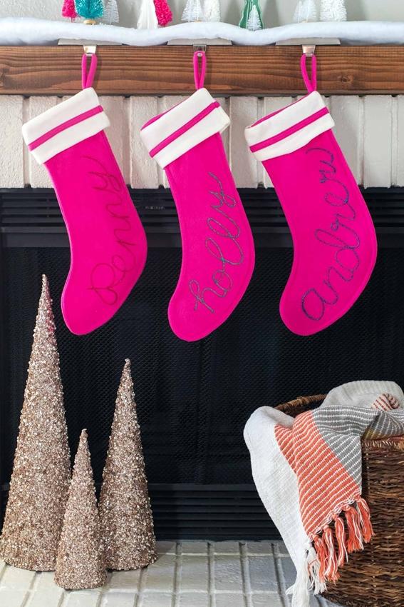 Dazzling Glitter Personalized Stockings