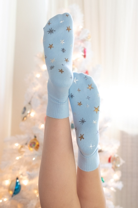 Show details for Starry Grip Socks