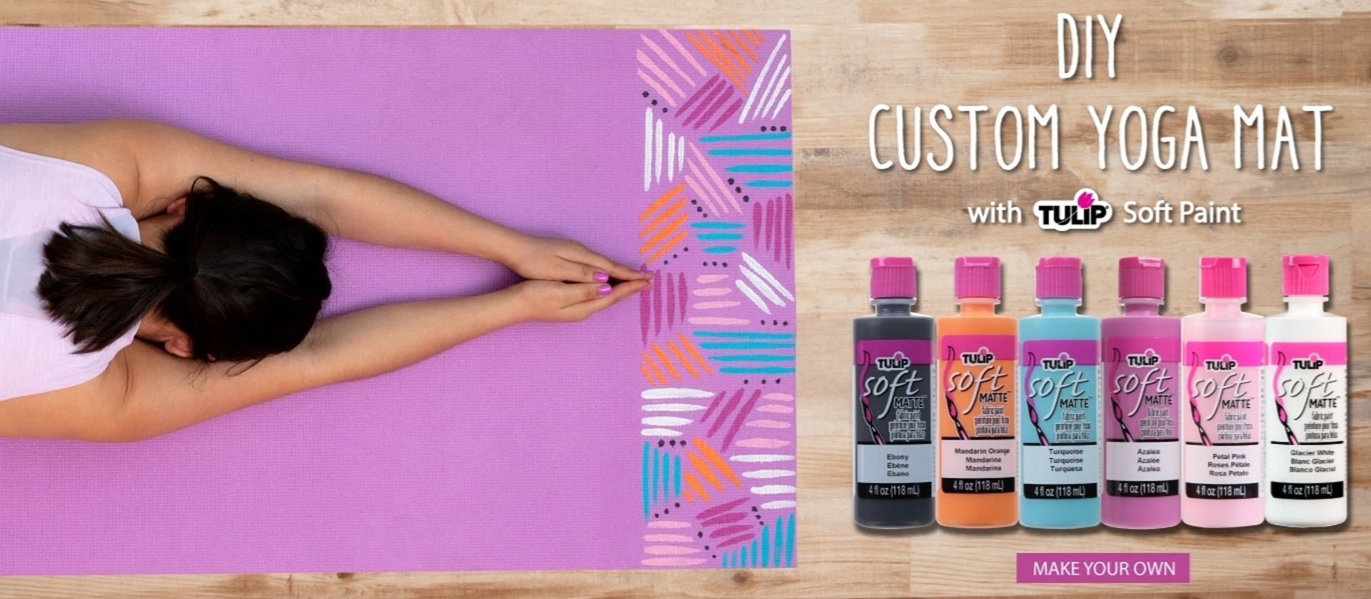 DIY Custom Yoga Mat with Tulip Soft Paint