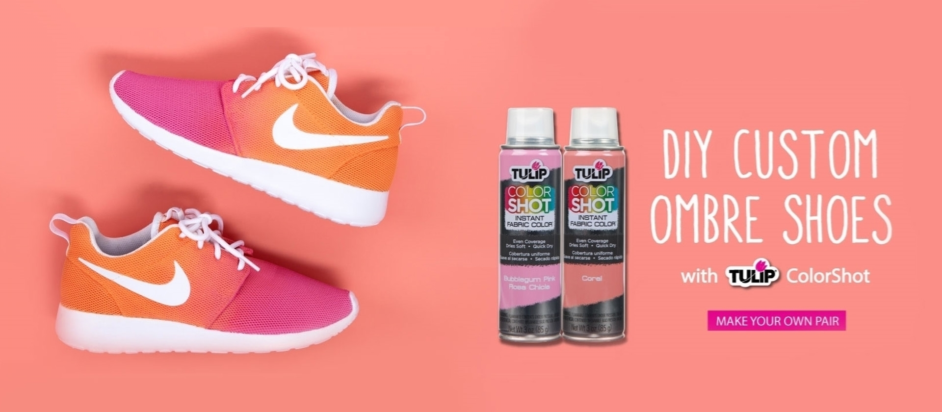Custom Ombre Shoes DIY with Colorshot