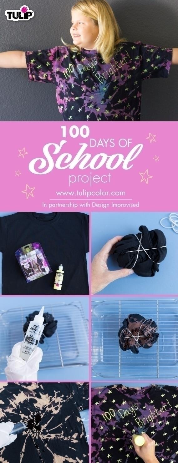 Tulip Reverse Tie Dye 100 Days of School Project