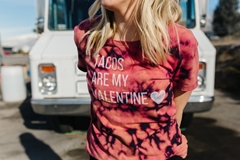 Picture of Valentine Reverse Tie-Dye Quote Art Tee