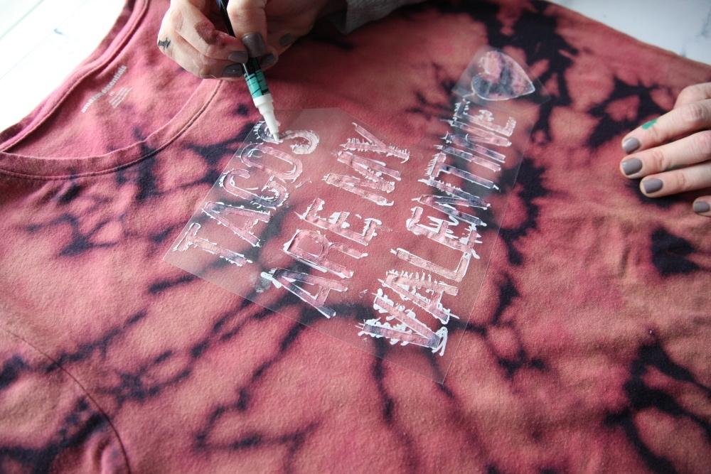 Valentine Reverse Tie Dye Quote Art T-shirt