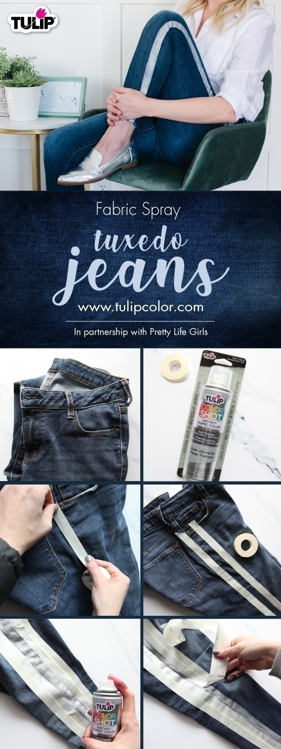 Tulip ColorShot Fabric Spray Paint Tuxedo Jeans