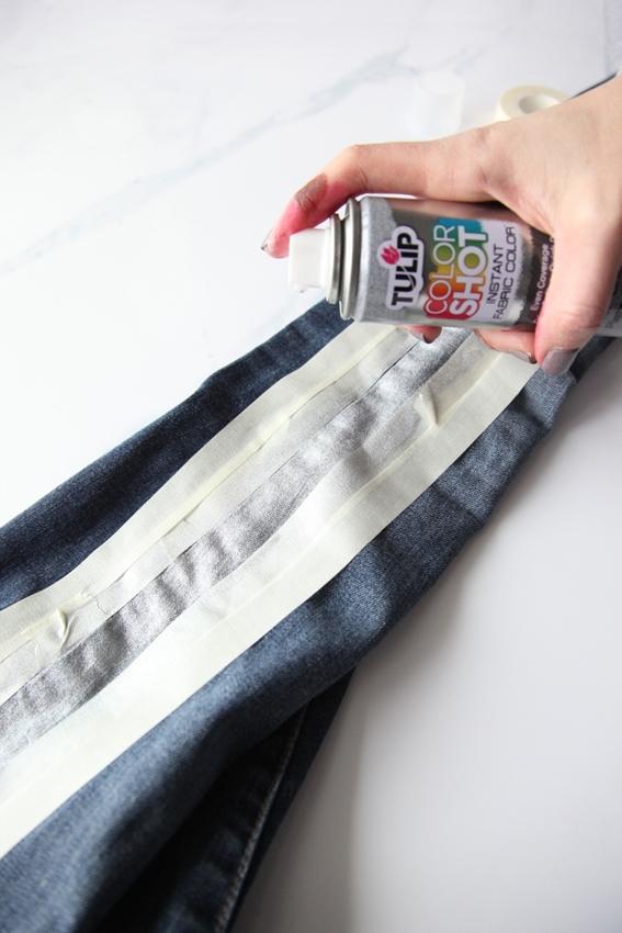 Tulip ColorShot Fabric Spray Paint Tuxedo Jeans