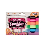 Picture of Graffiti Chisel Tip Neon Fabric Markers 6 Pack
