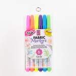 Picture of Fine Tip Neon Fabric Markers 6 Pack