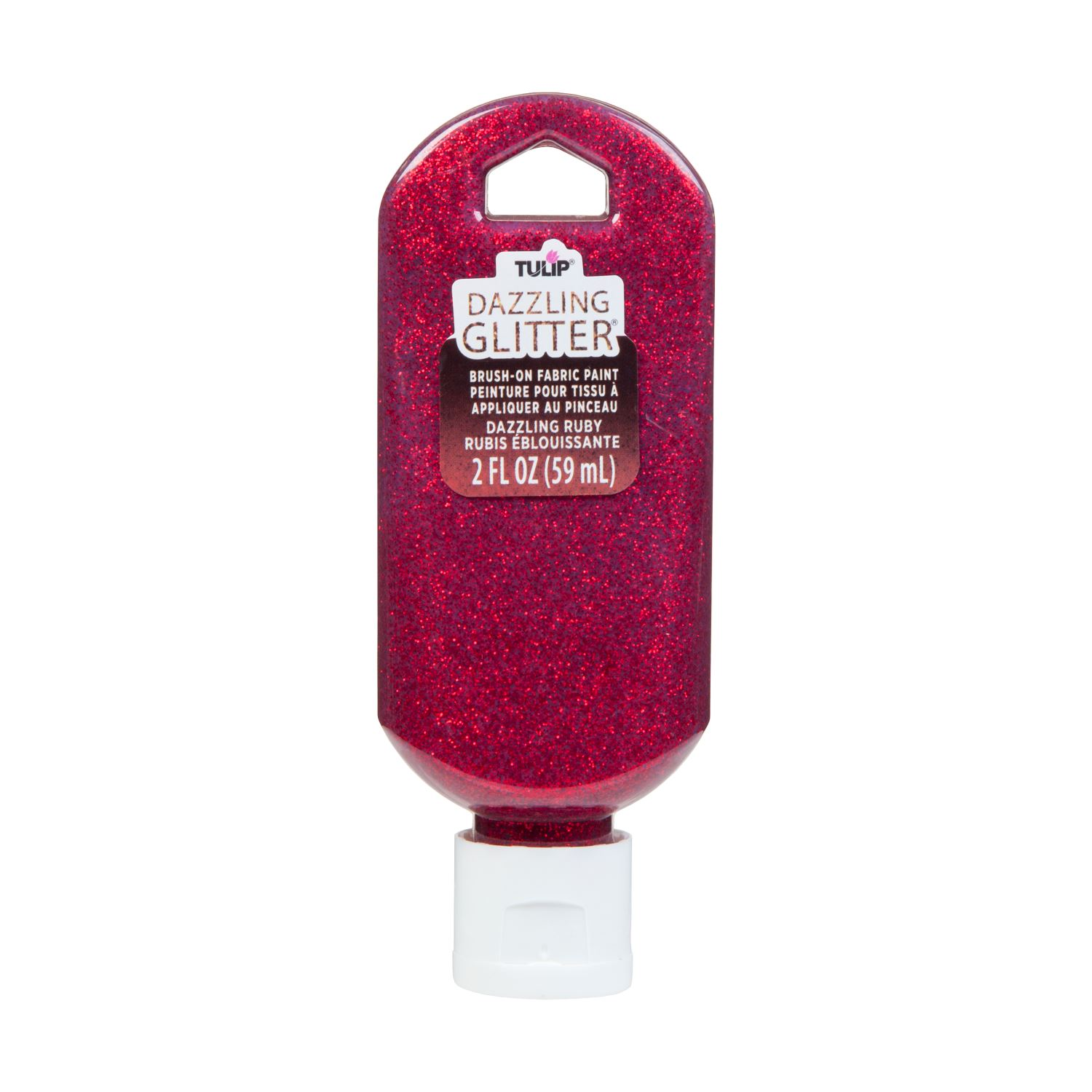 Picture of Dazzling Glitter Brush-On Fabric Paint Dazzling Ruby
