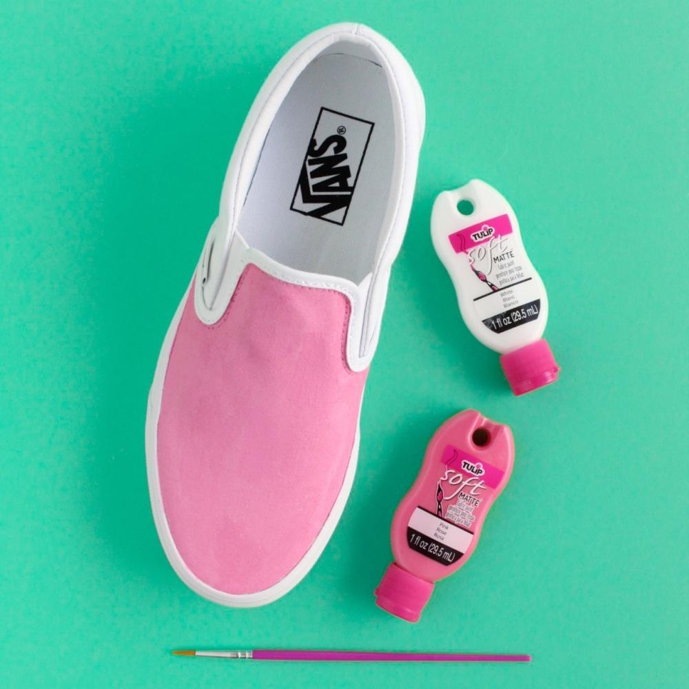 Tulip Painted Rose Shoes - mix paints and paint base