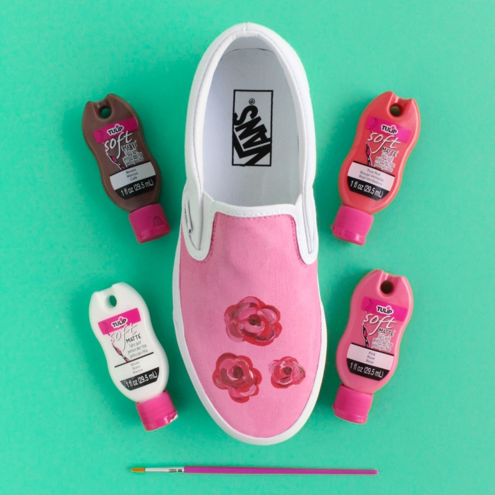 Tulip Painted Rose Shoes - paint highlights