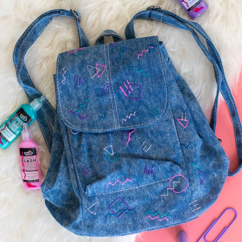 Picture of Tulip 80s-Inspired Denim Backpack