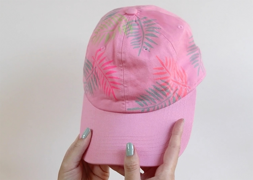 Tulip Palm Leaf Baseball Cap - let dry
