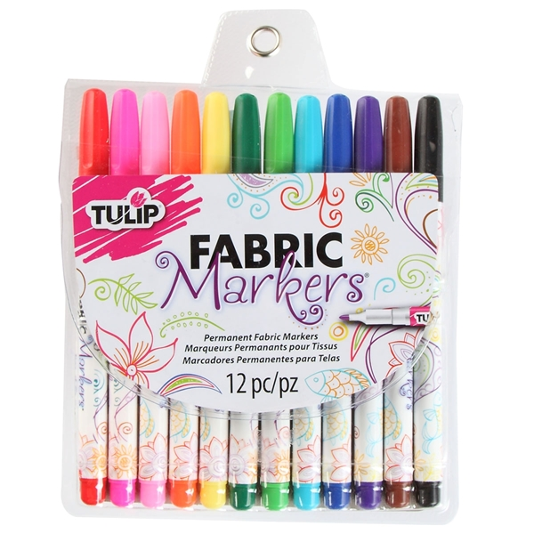 Picture of Fine Tip Fabric Markers 12 Pack