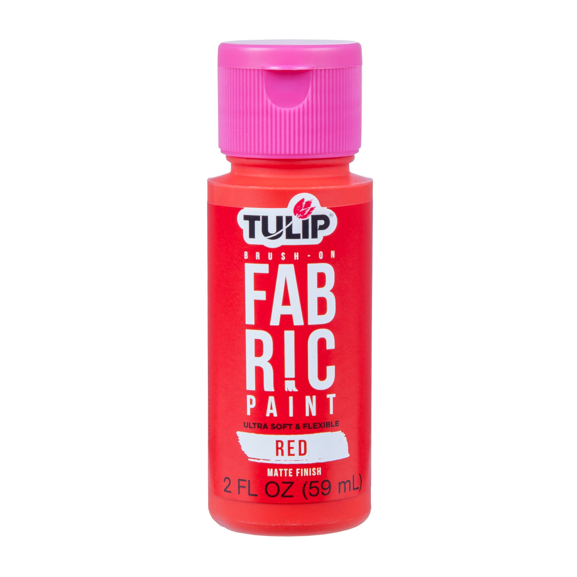 Picture of Brush-On Fabric Paint Red Matte