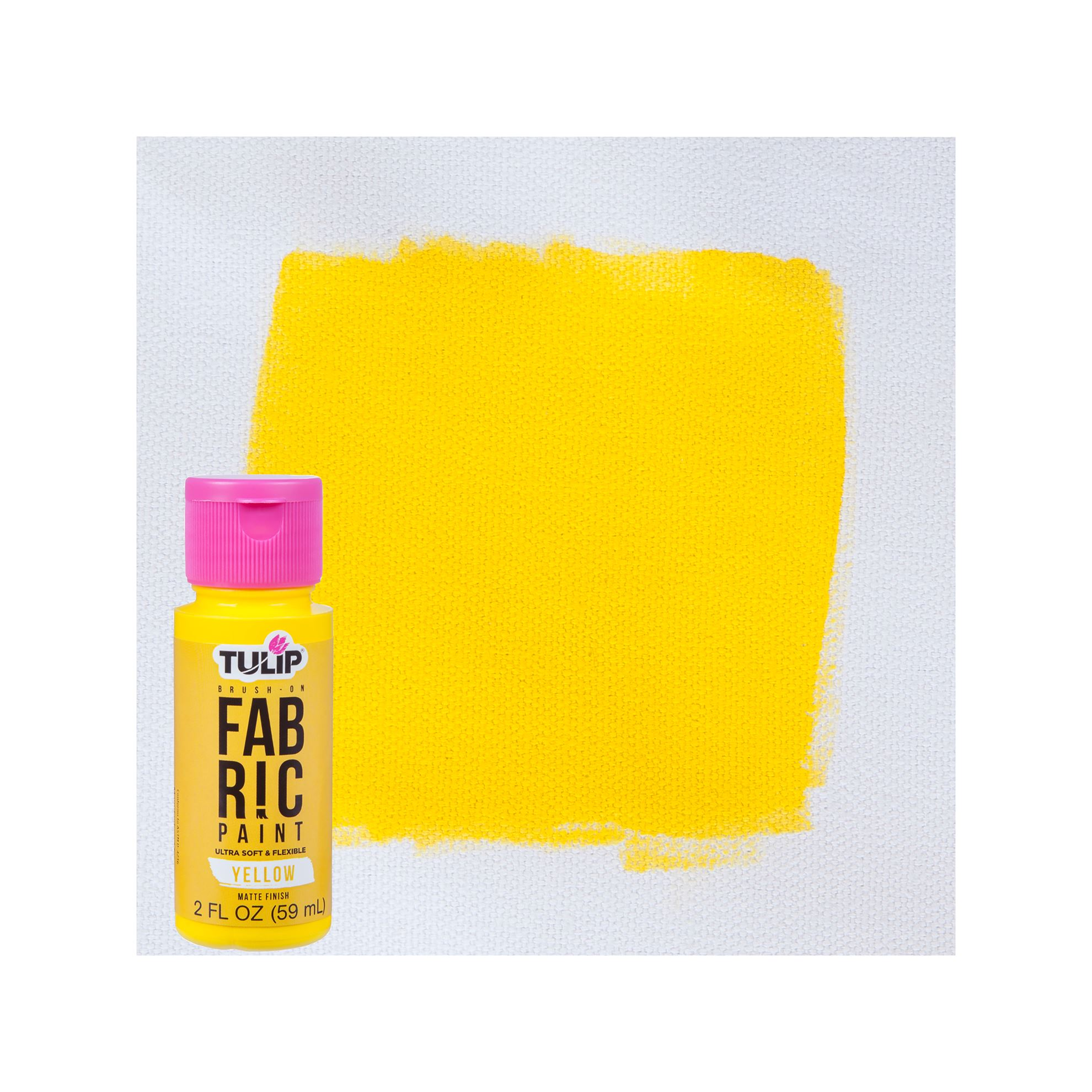 Picture of Brush-On Fabric Paint Yellow Matte