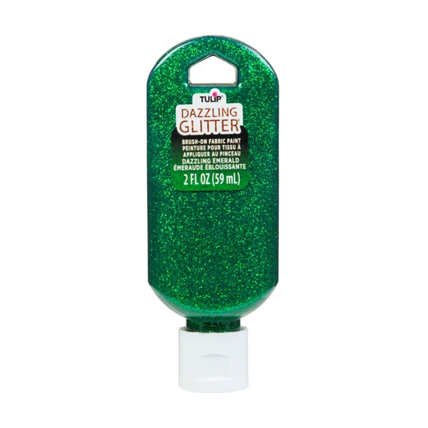 Picture of Dazzling Glitter Brush-On Fabric Paint Dazzling Emerald