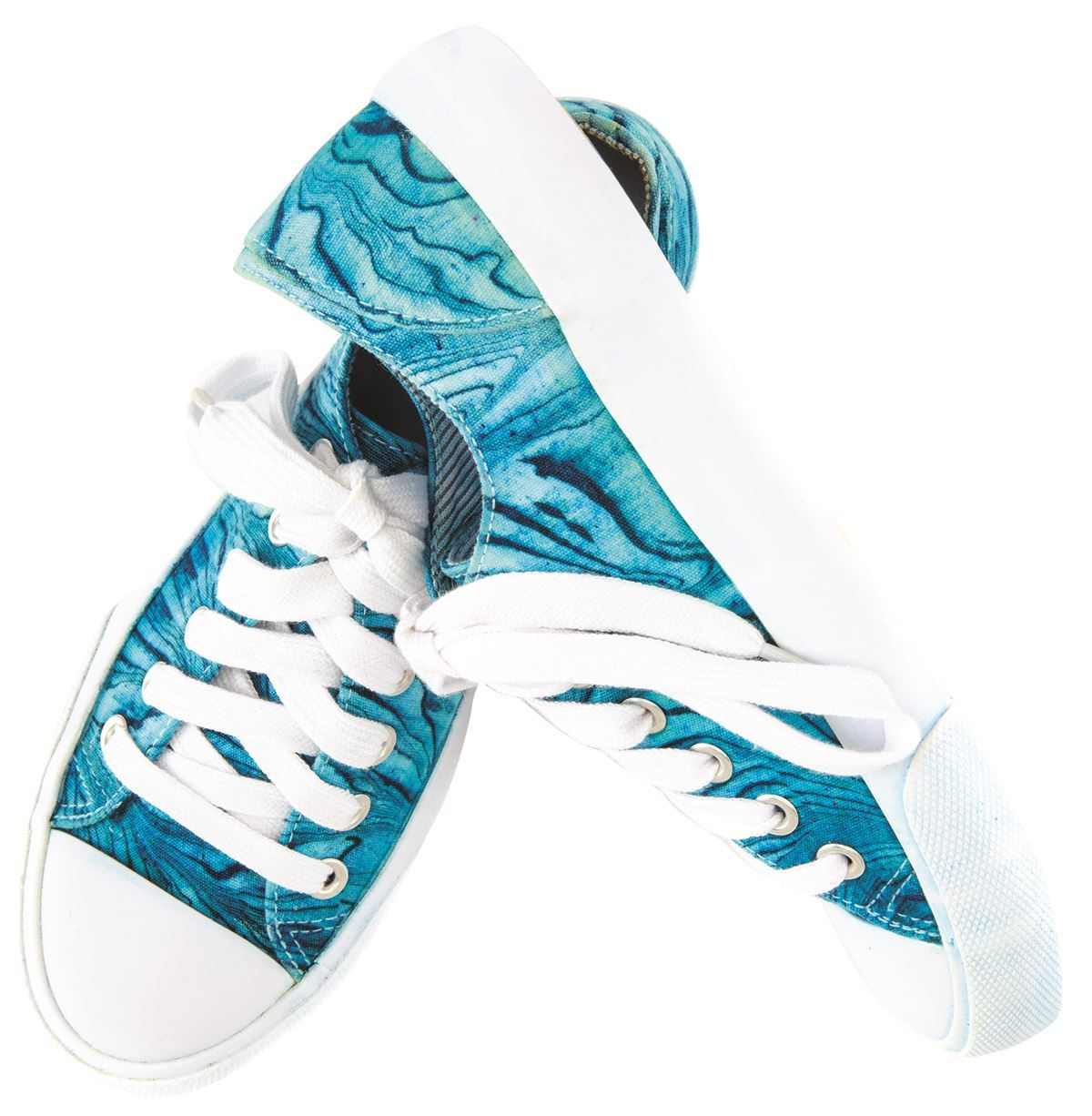 Turquoise Marbling Shoes