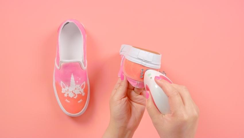 Tulip Unicorn Ombre Tie-Dye Shoes with Transfers - heat set transfers