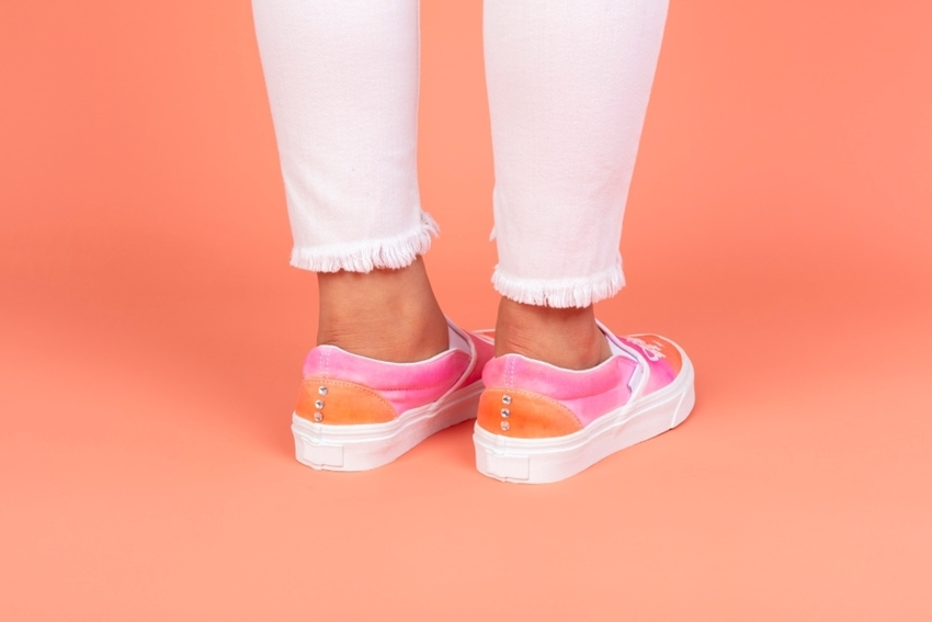 Tulip Unicorn Ombre Tie-Dye Shoes with Transfers