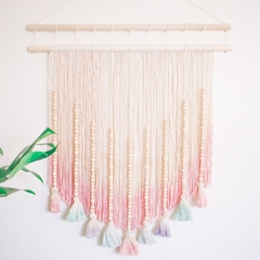 Picture of Pastel Dyed DIY Wall Hanging