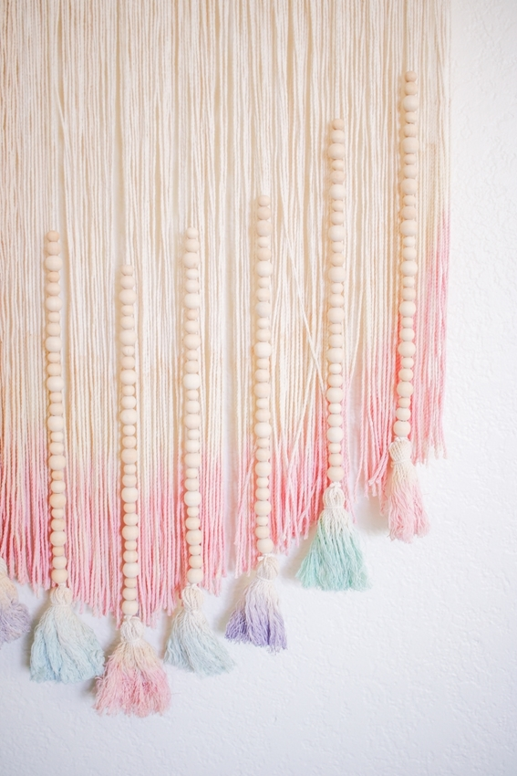 Tulip Pastel Dyed DIY Wall Hanging