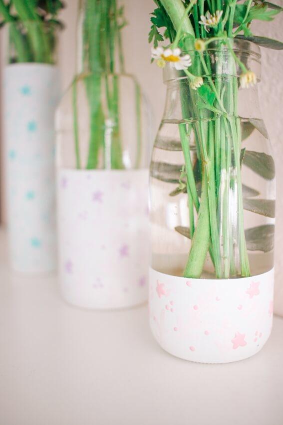 Tulip Pastel Dimensional Paint Floral Vases