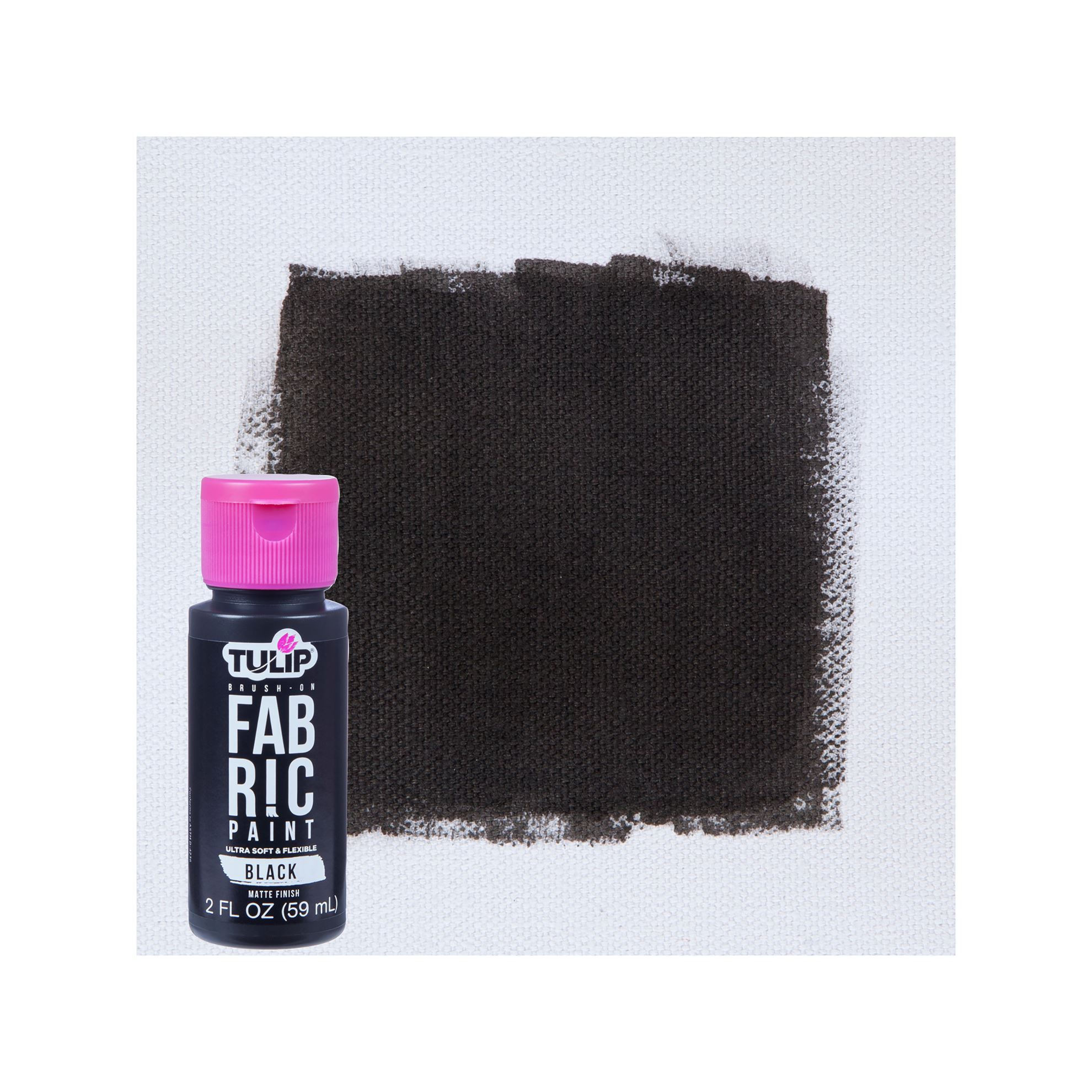 Picture of Brush-On Fabric Paint Black Matte