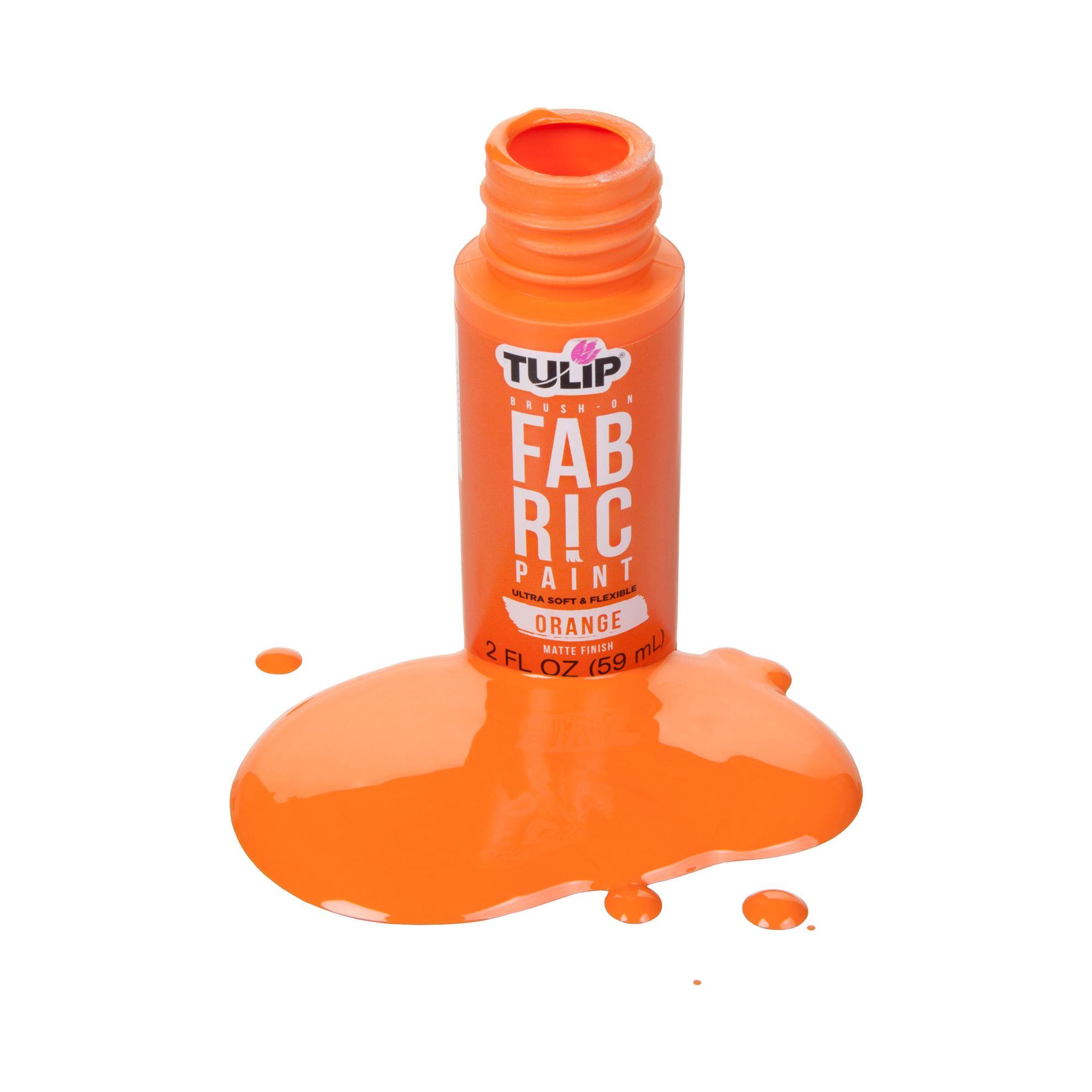 Picture of Brush-On Fabric Paint Orange Matte
