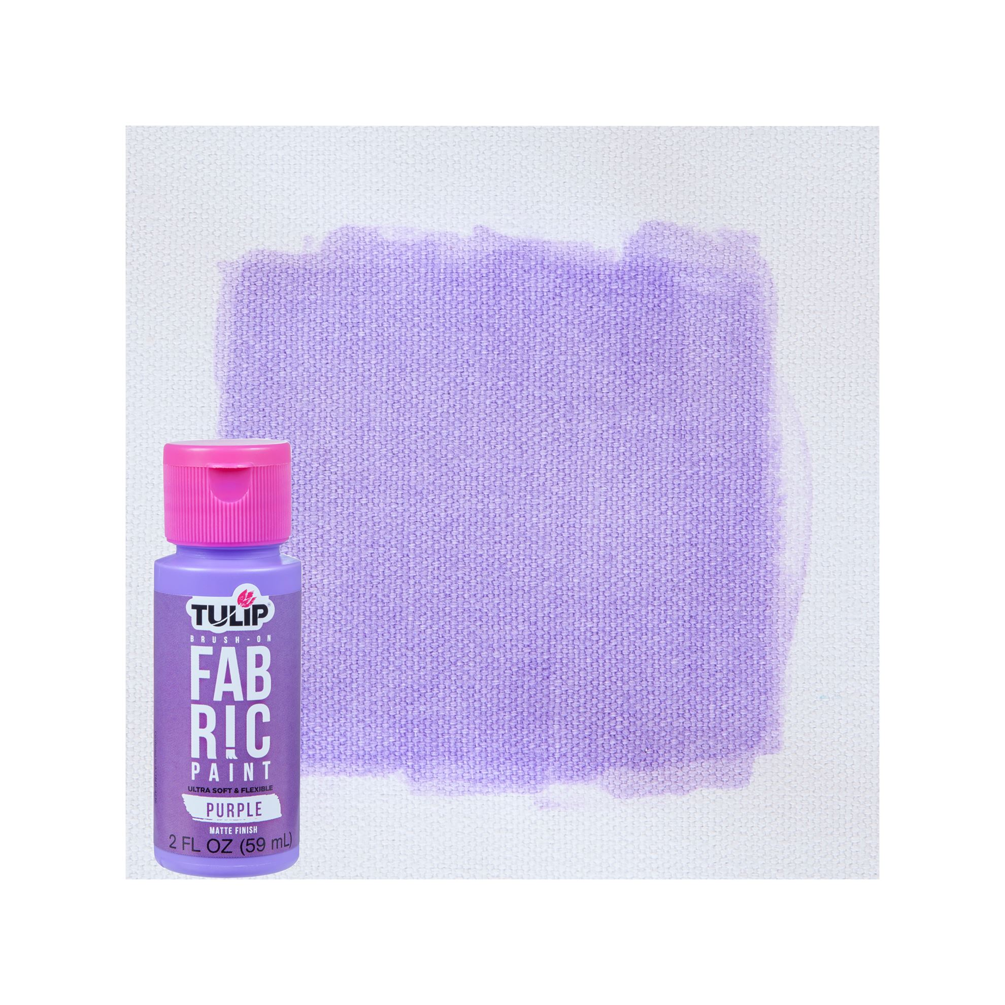 Picture of Brush-On Fabric Paint Purple Matte