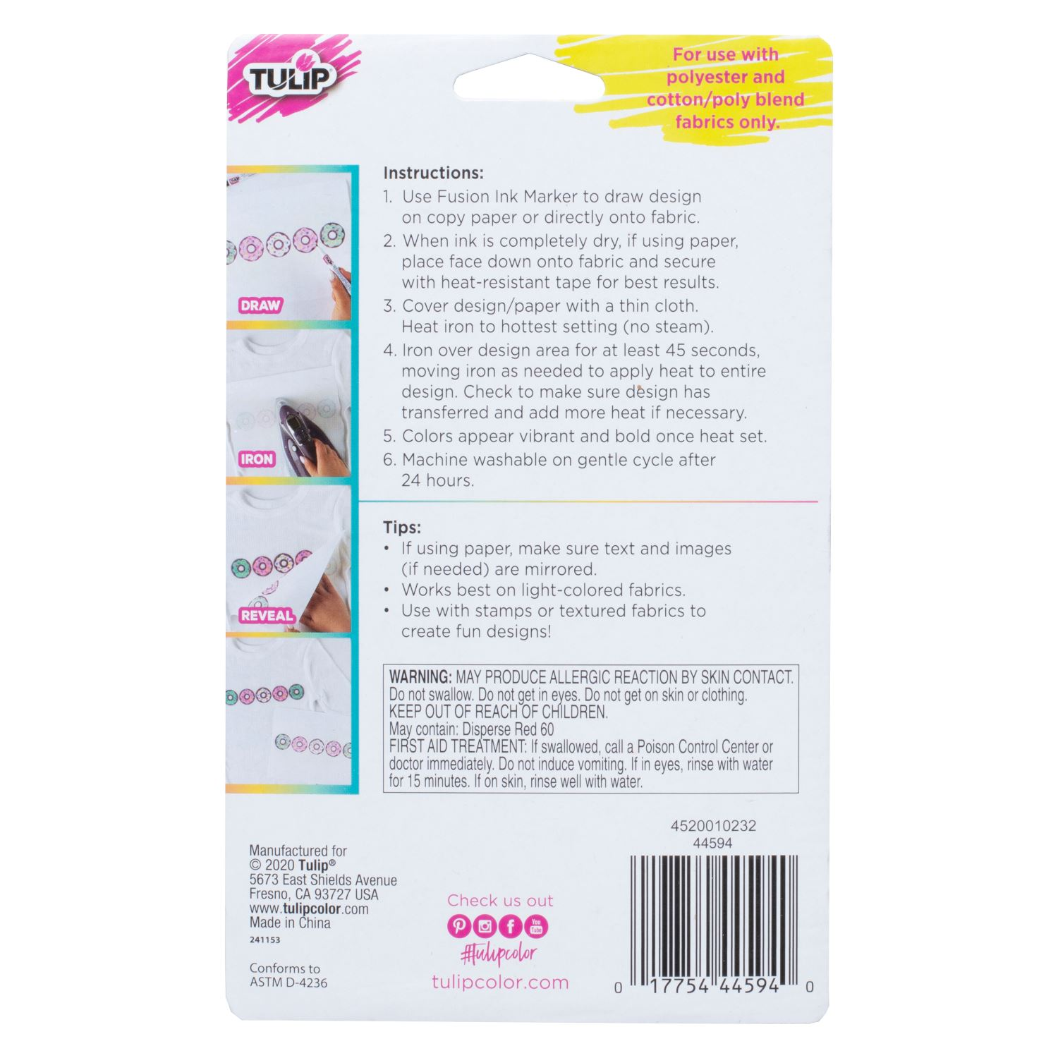 Picture of Fusion Ink Fabric Markers Tropical 6 Pack