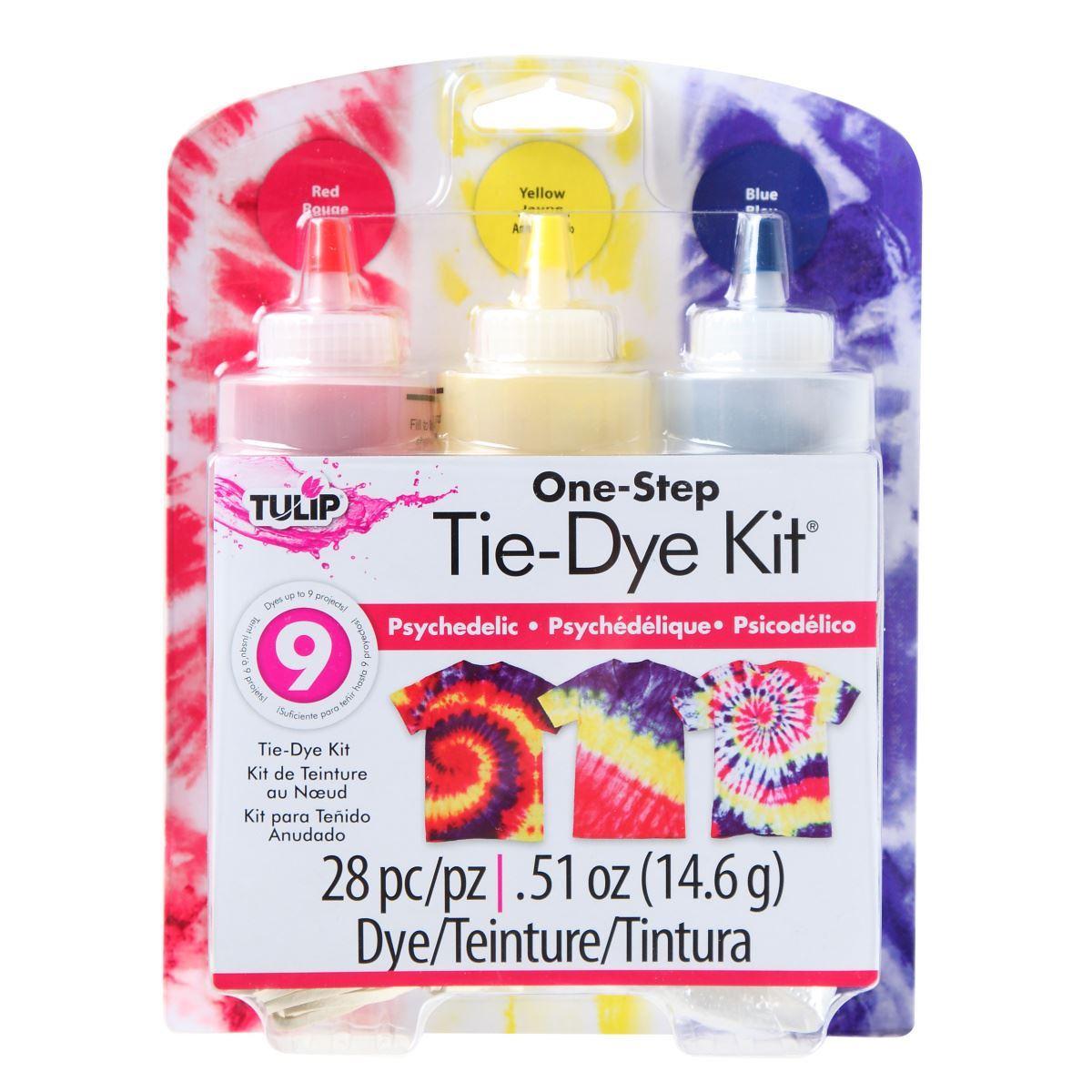 Psychedelic 3-Color Tie-Dye Kit
