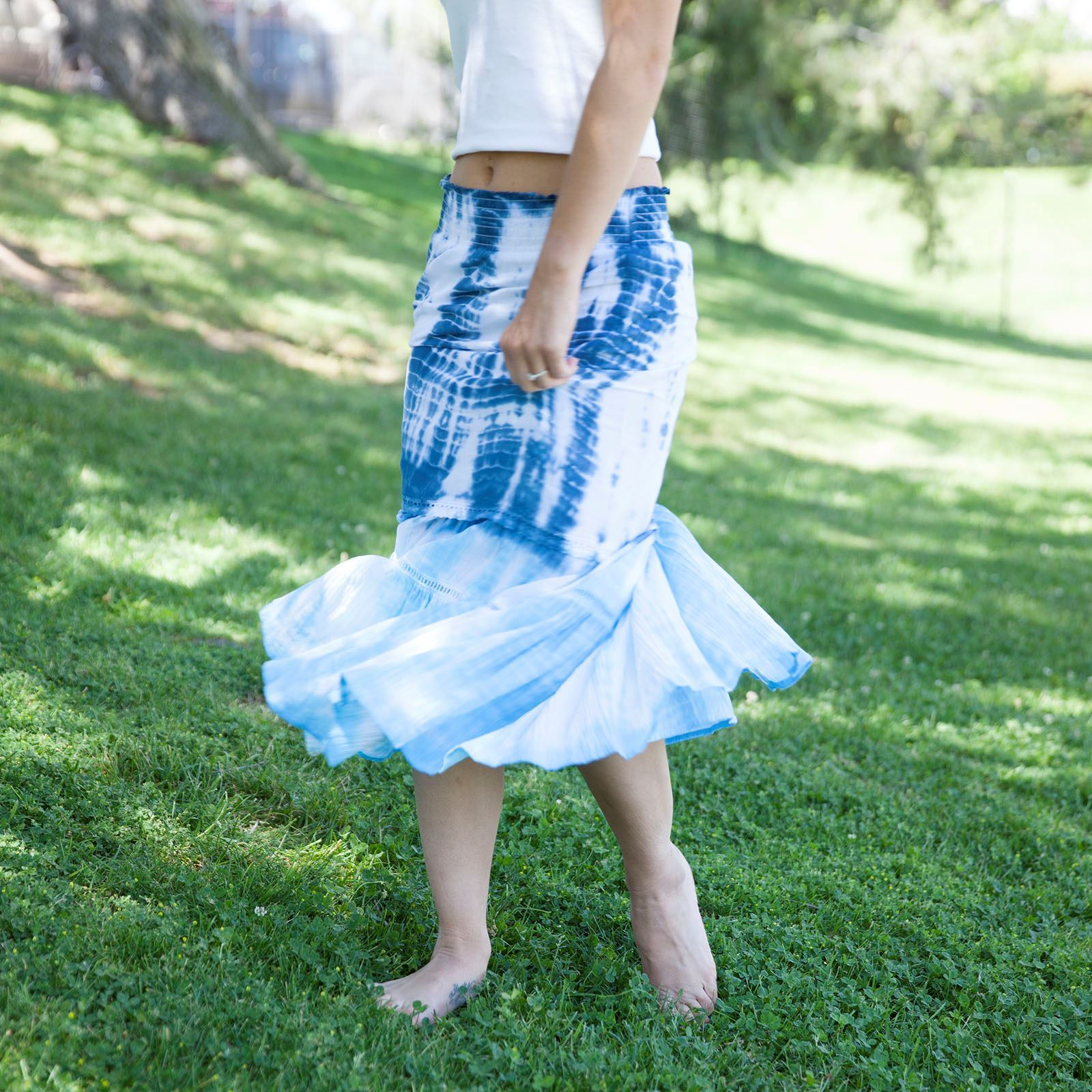 Shibori Tie Dye Skirt