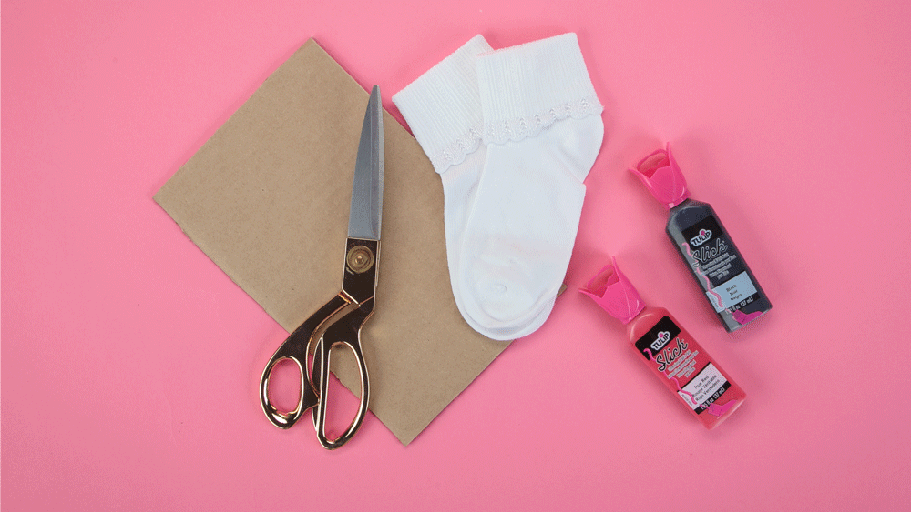 How To Paint Grip Socks with Dimensional Paint - supplies