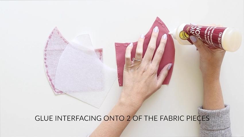 Tulip Make a No-Sew Face Mask - glue interfacing