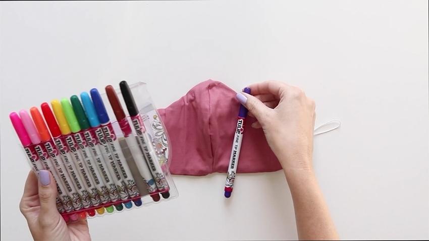 Tulip Make a No-Sew Face Mask - choose marker colors