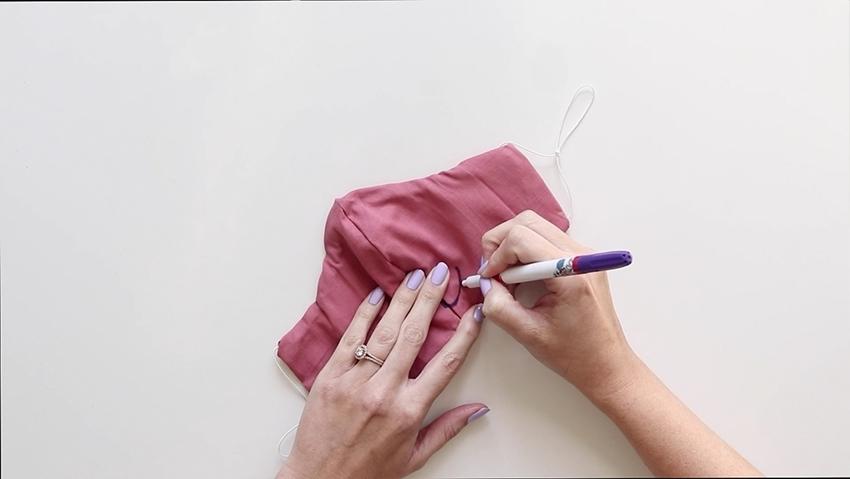 Tulip Make a No-Sew Face Mask - draw design