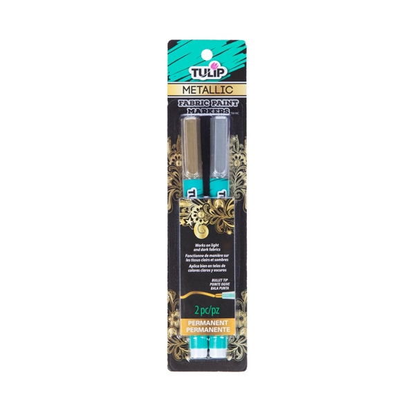 Picture of Opaque Fabric Markers Metallic 2 Pack