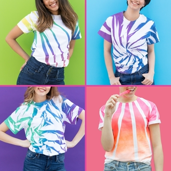 Picture of 6 New Ways to Tie Dye with Spray-On Color
