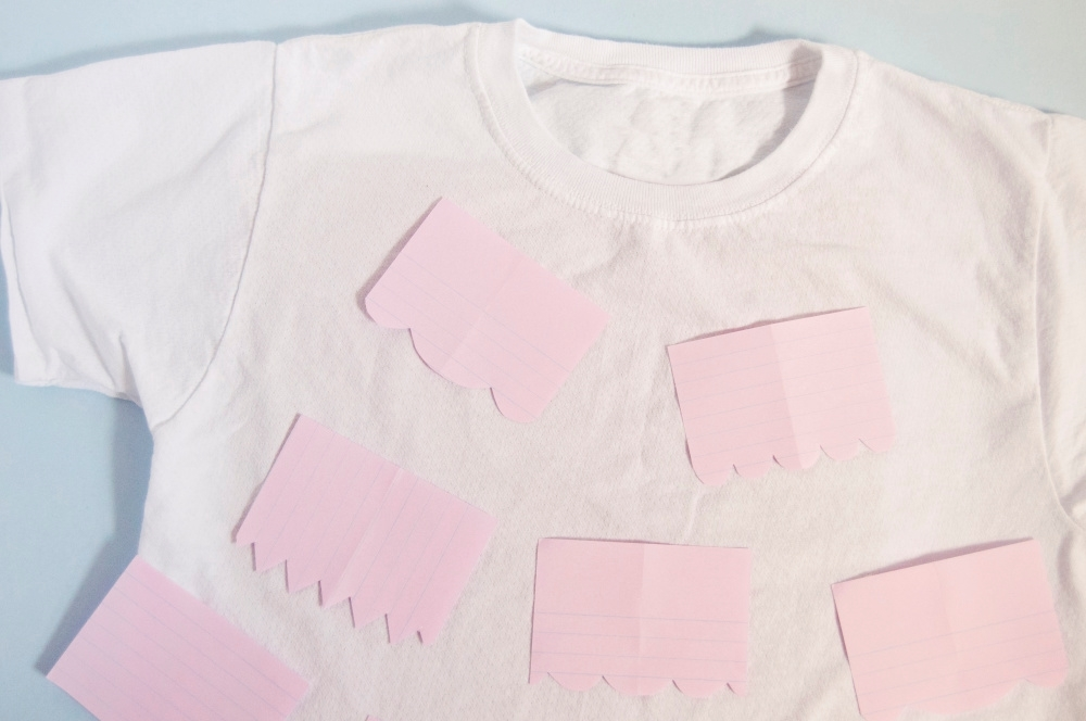 Tulip Fabric Markers DIY Papel Picado T-shirt - cut shapes from paper