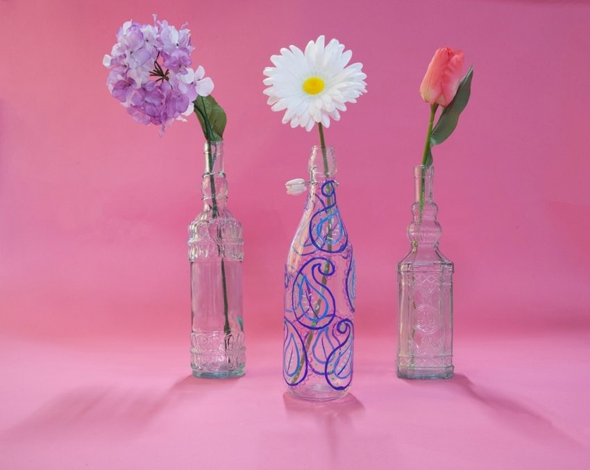 Tulip Dimensional Paint Mother's Day Gifts - painted vases