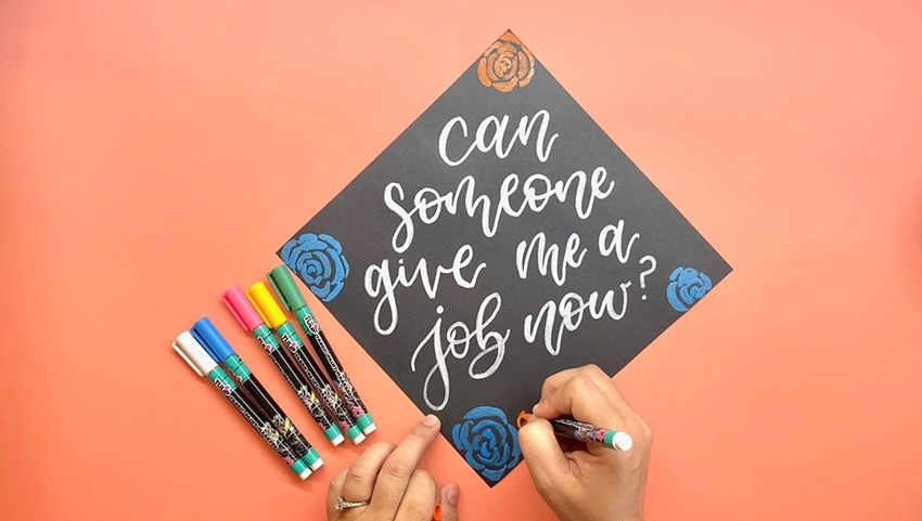 Picture of Personalize a Graduation Cap with Tulip Fabric Markers