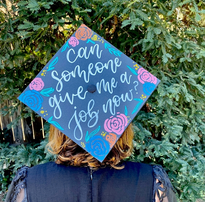 Personalize a Graduation Cap with Tulip Fabric Markers