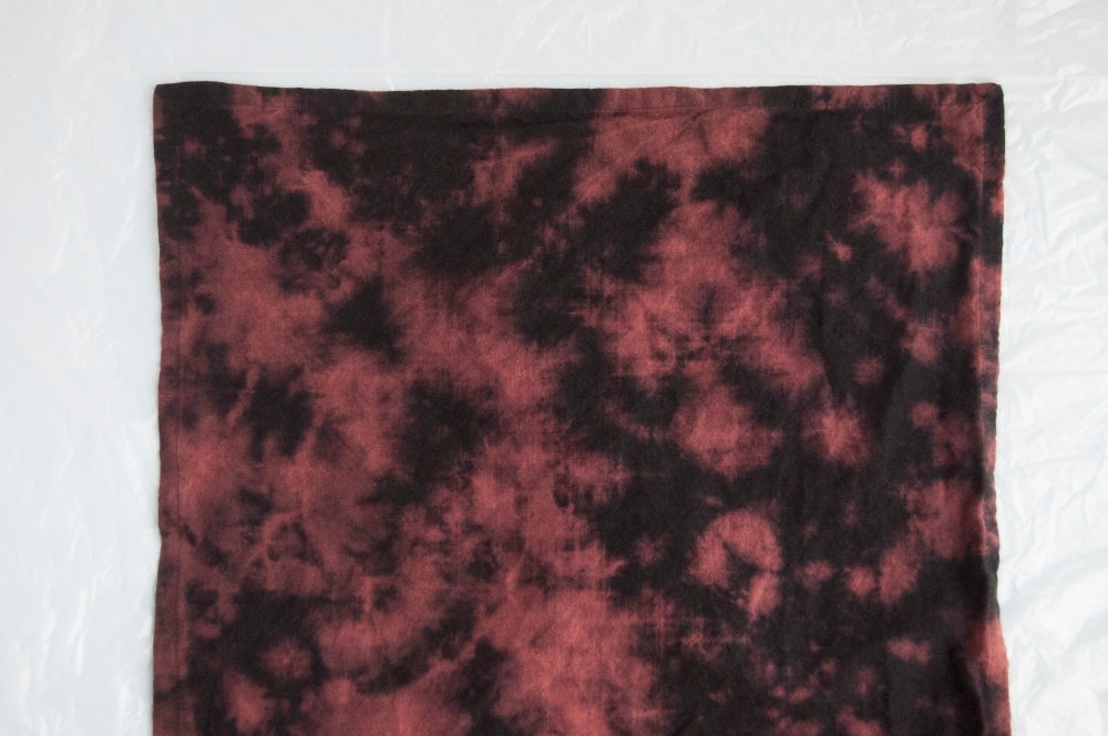 Tulip Reverse Tie-Dye Galaxy Wall Hanging - place laundered fabric on work surface